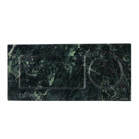 Zuiver Dienblad marble green, marmer groen 22x10x1,5cm