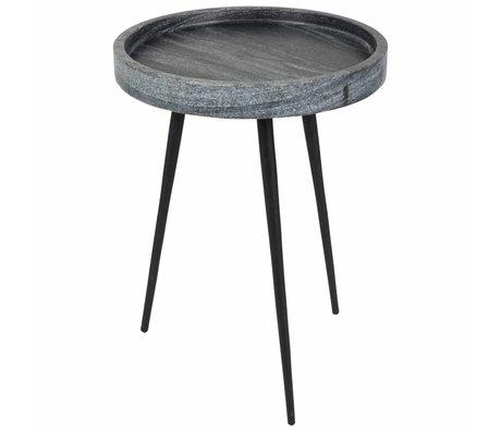 Zuiver Bijzettafel Karrara grey, marmer grijs Ø33x45cm