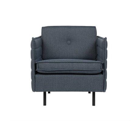 Zuiver Fauteuil Jaey blauw grijs textiel metaal 72x90x76cm