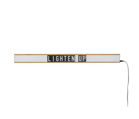 Zuiver Lamp Lightbox Saber wit, bruin plastic 120x4x10cm