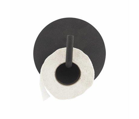Housedoctor WC rol houder Text aluminium zwart ø13x12.5cm