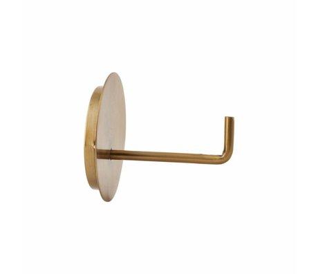 Housedoctor WC rol houder Text aluminium goud ø13x12.5cm