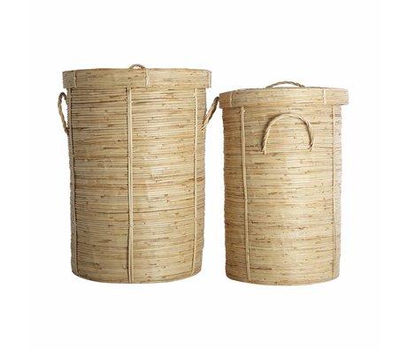 Housedoctor Wasmand Chaka set van 2 bamboe ø37x57cm en ø45x64cm