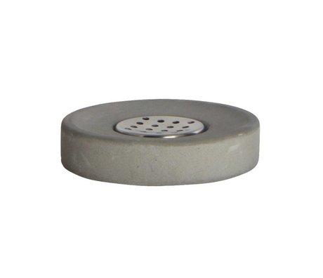 Housedoctor Zeep bakje cement, grijs ø11x2,5cm