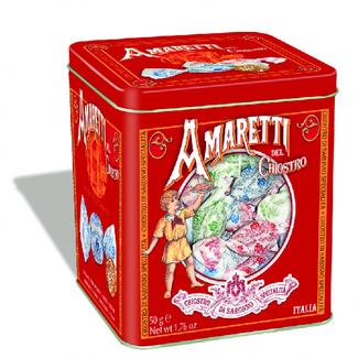 Gusto Amaretti crunchy tin 50gr Lazzaroni