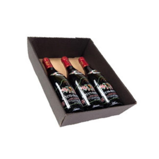 Kartonnen mand 3 flessen (exclusief flessen)