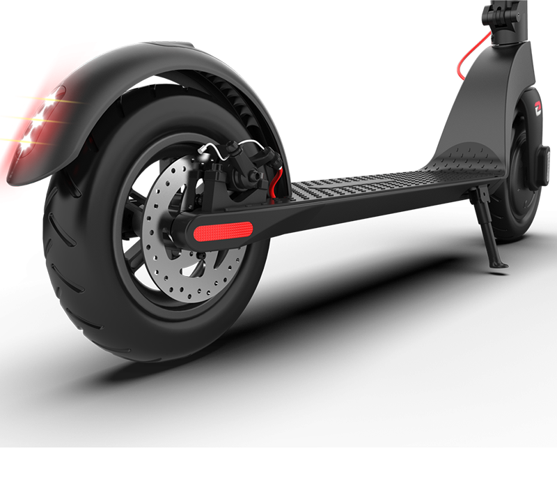 Multiple braking system for a safe and carefree ride