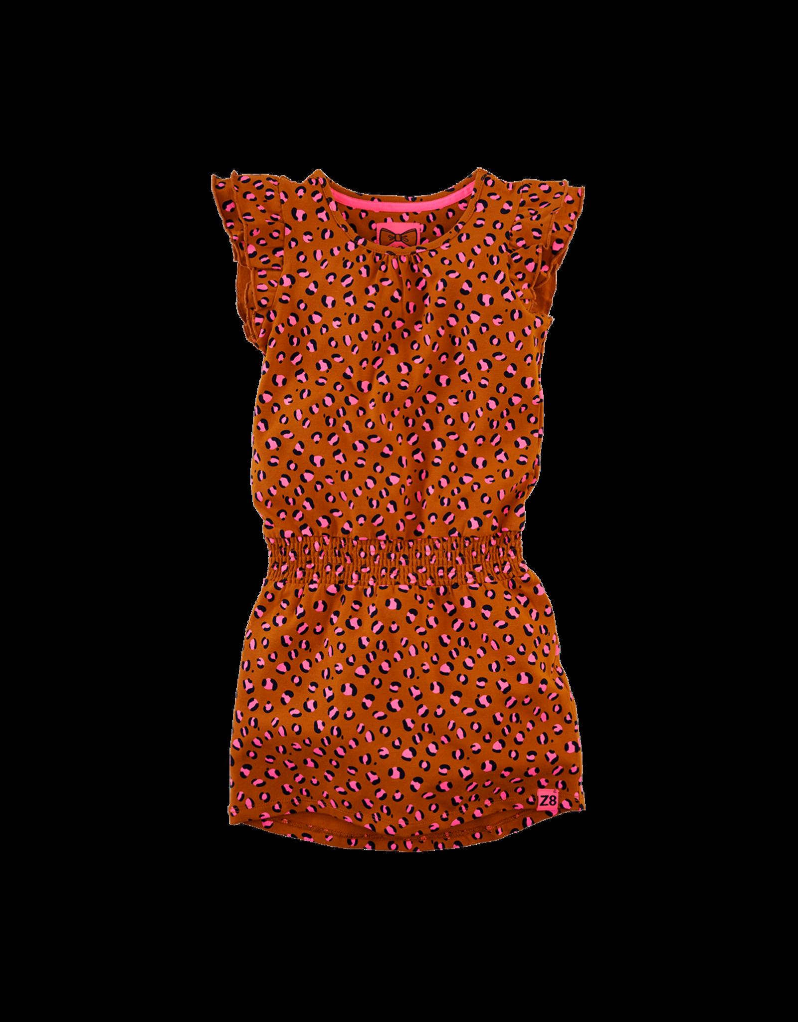 Lyla - cognac/leopard