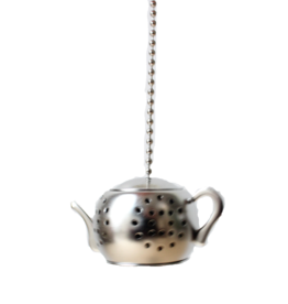 Your Daily Teacup Thee-ei theepot zilver