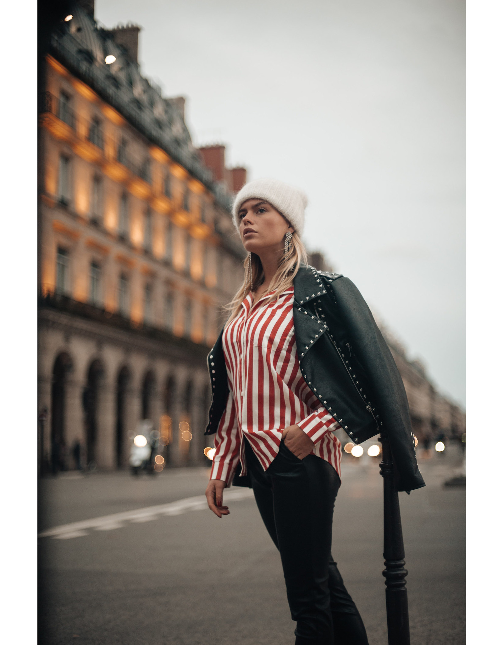 Colourful Rebel Lean stripe loosefit red/white
