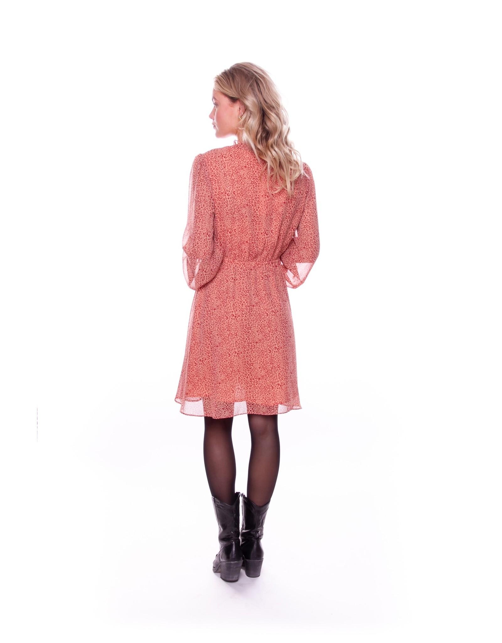 Colourful Rebel Cindy leopard boho dress