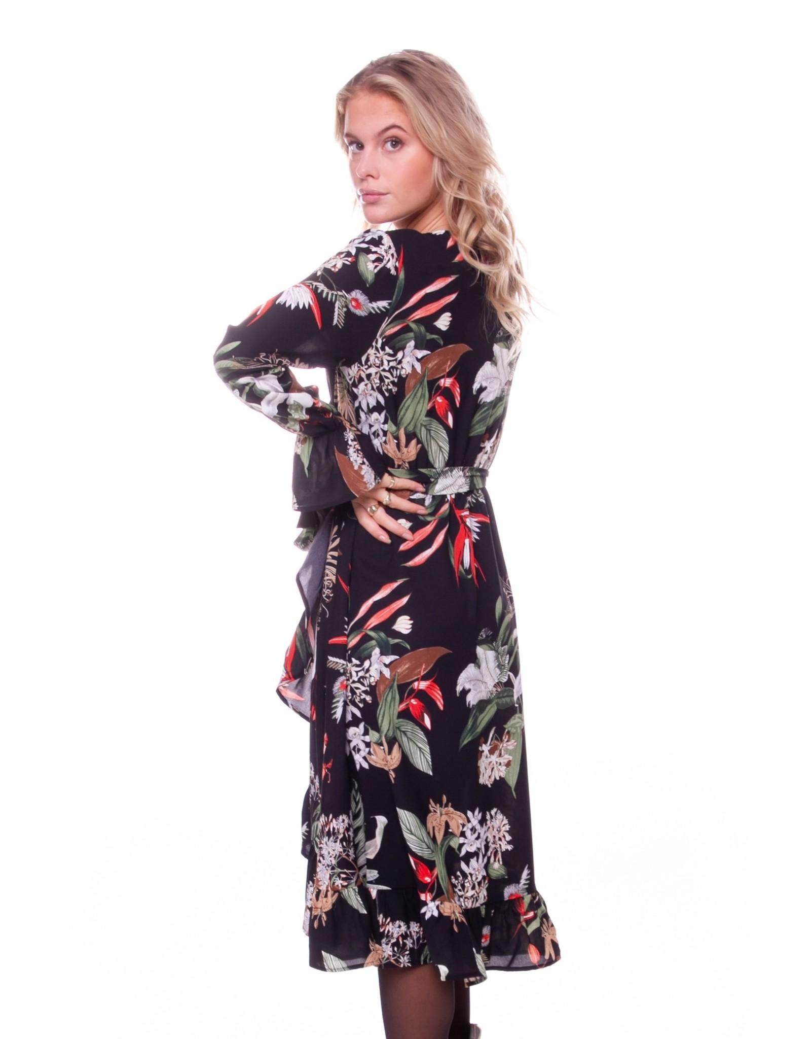 Colourful Rebel River tropical midi dress