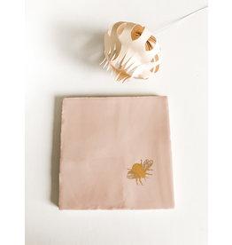 In My Dreams Design Tegeltje roze/goud vlieg