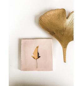 In My Dreams Design Tegeltje roze/goud blad 2