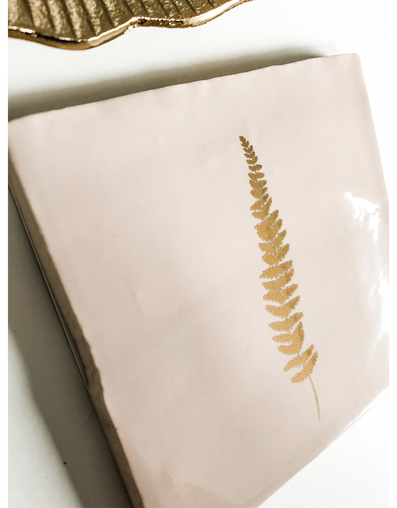 In My Dreams Design Tegeltje roze/goud blad 3