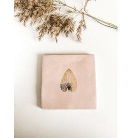 In My Dreams Design Tegeltje roze/goud blad 4
