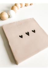 In My Dreams Design Tegeltje roze/zwart hartjes