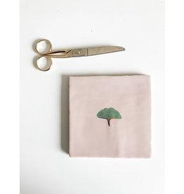 In My Dreams Design Tegeltje roze/goud groen ginko