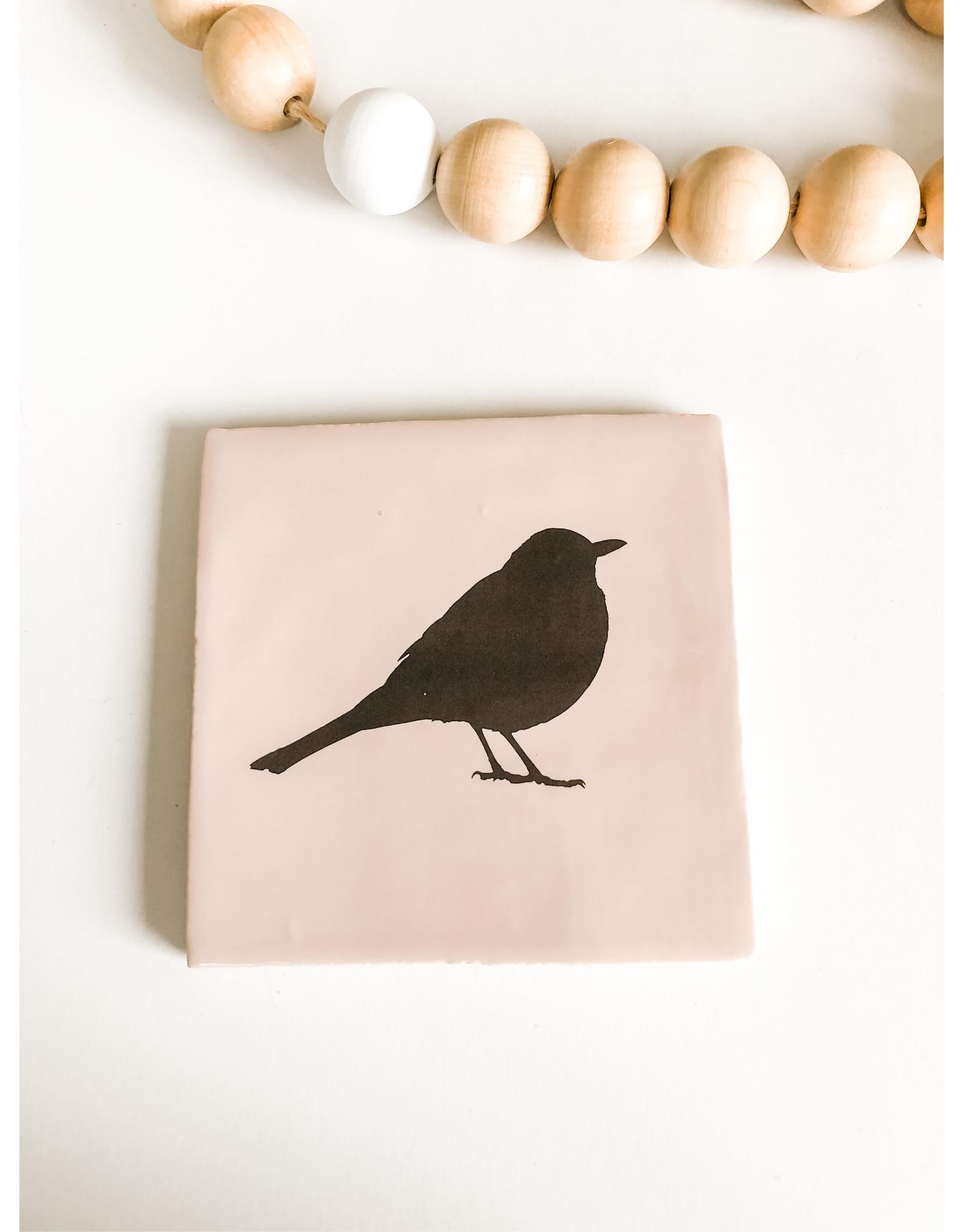 In My Dreams Design Tegeltje roze/zwart