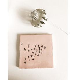 In My Dreams Design Tegeltje roze/zwart vogels 6