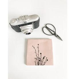 In My Dreams Design Tegeltje roze/zwart plant