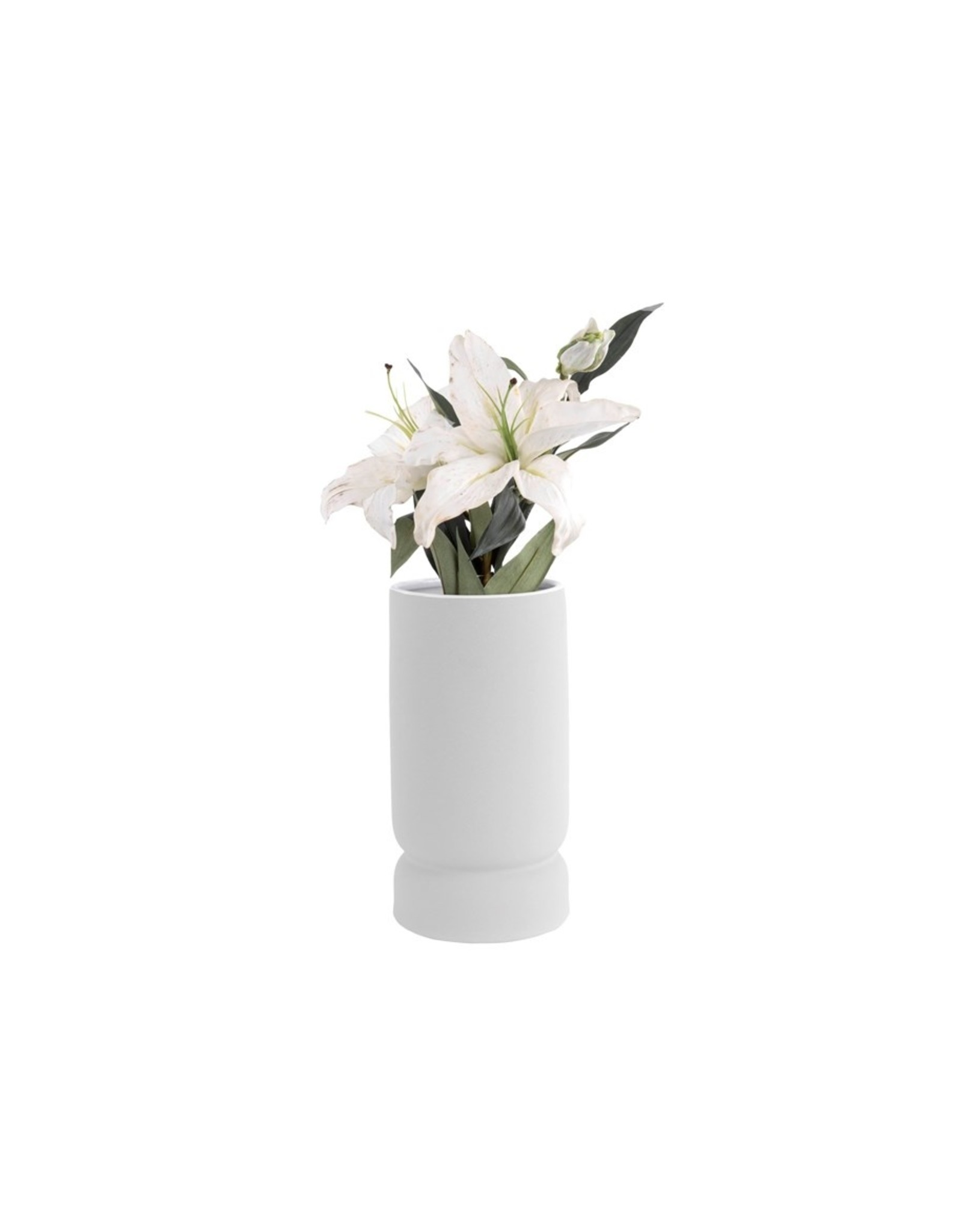 Vaas ceramic white L