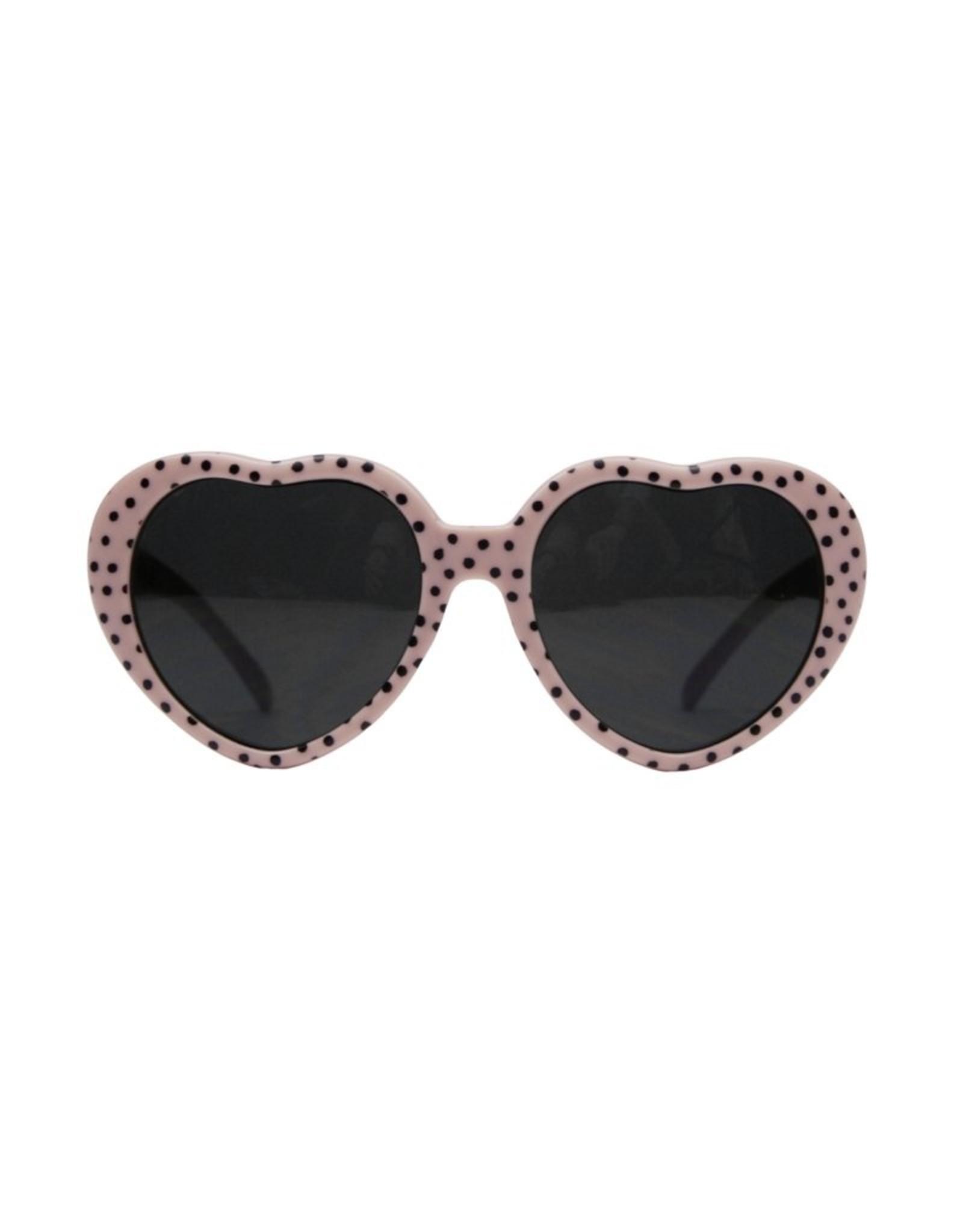 Van Pauline Sunnies junior - heart pink dots