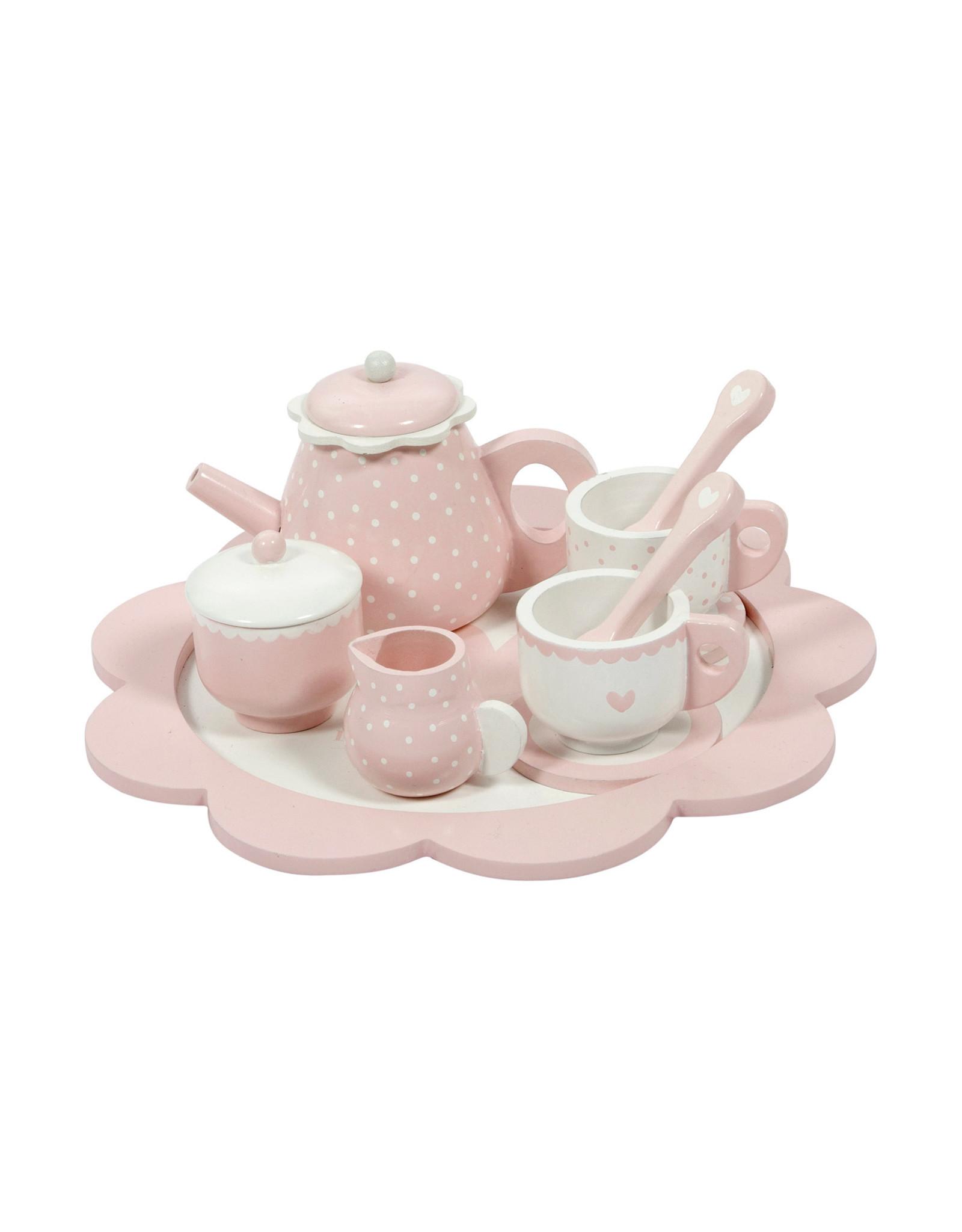 Little Dutch Houten theeservies - pink