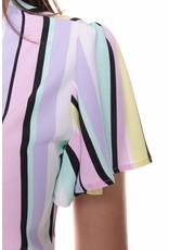 Colourful Rebel Ava stripes wrap maxi dress women multicolor