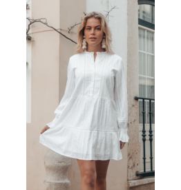 Colourful Rebel Ally mini gipsy tape ruffle dress women white