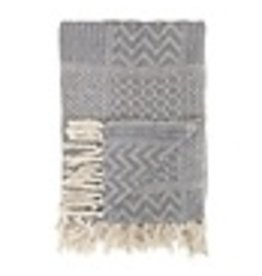 Bloomingville Plaid recycled cotton - grey