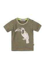 Dirkje T-shirt streep  - legergroen - 35C-34583