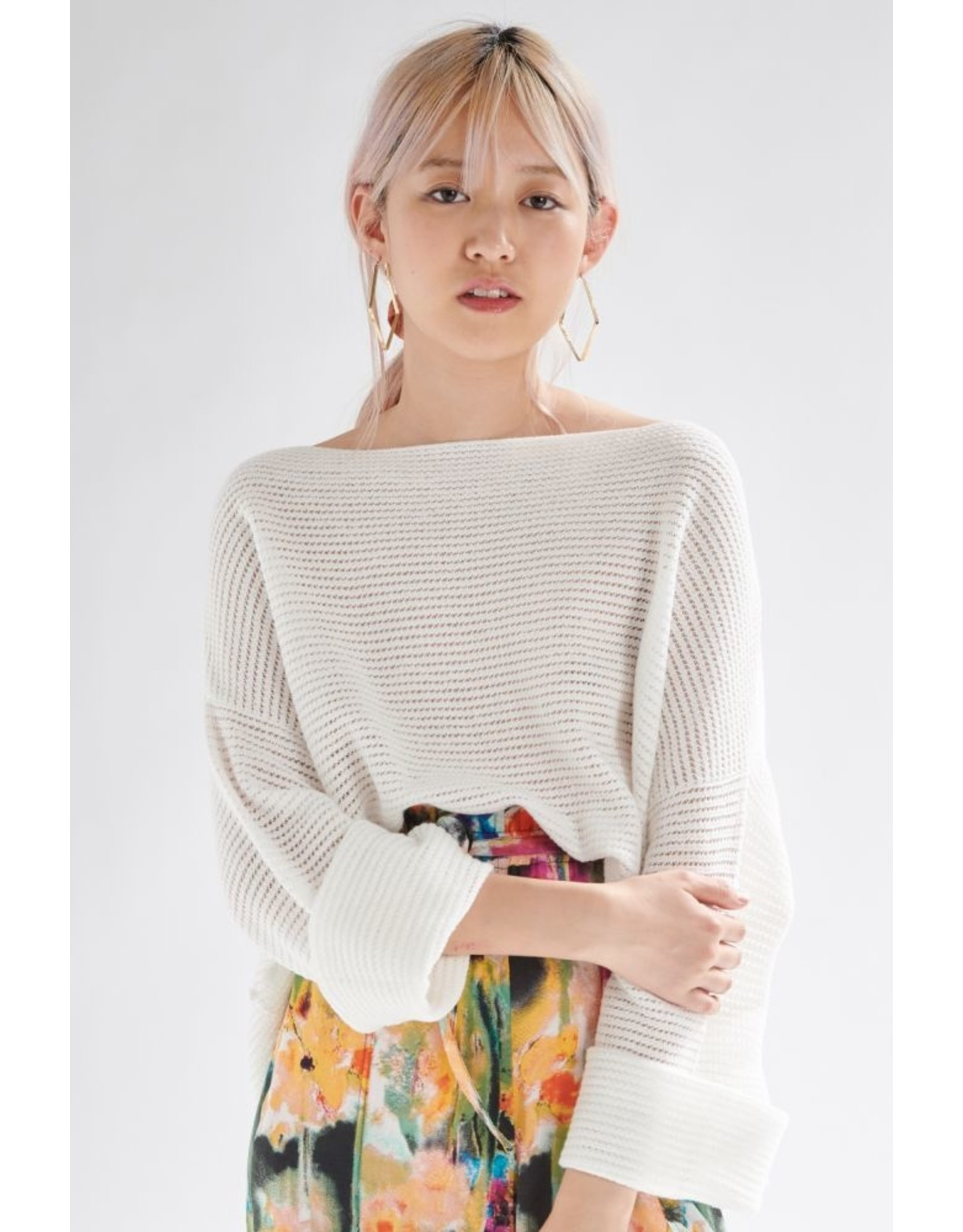 24colours Pullover offwhite