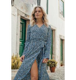 Colourful Rebel Maxi collar dress - Vally leopard -