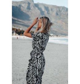 Colourful Rebel Maxi dress - dahlia zebra  - black/white