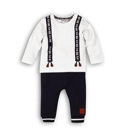 Dirkje T-shirt & broekje - wit / donkerblauw