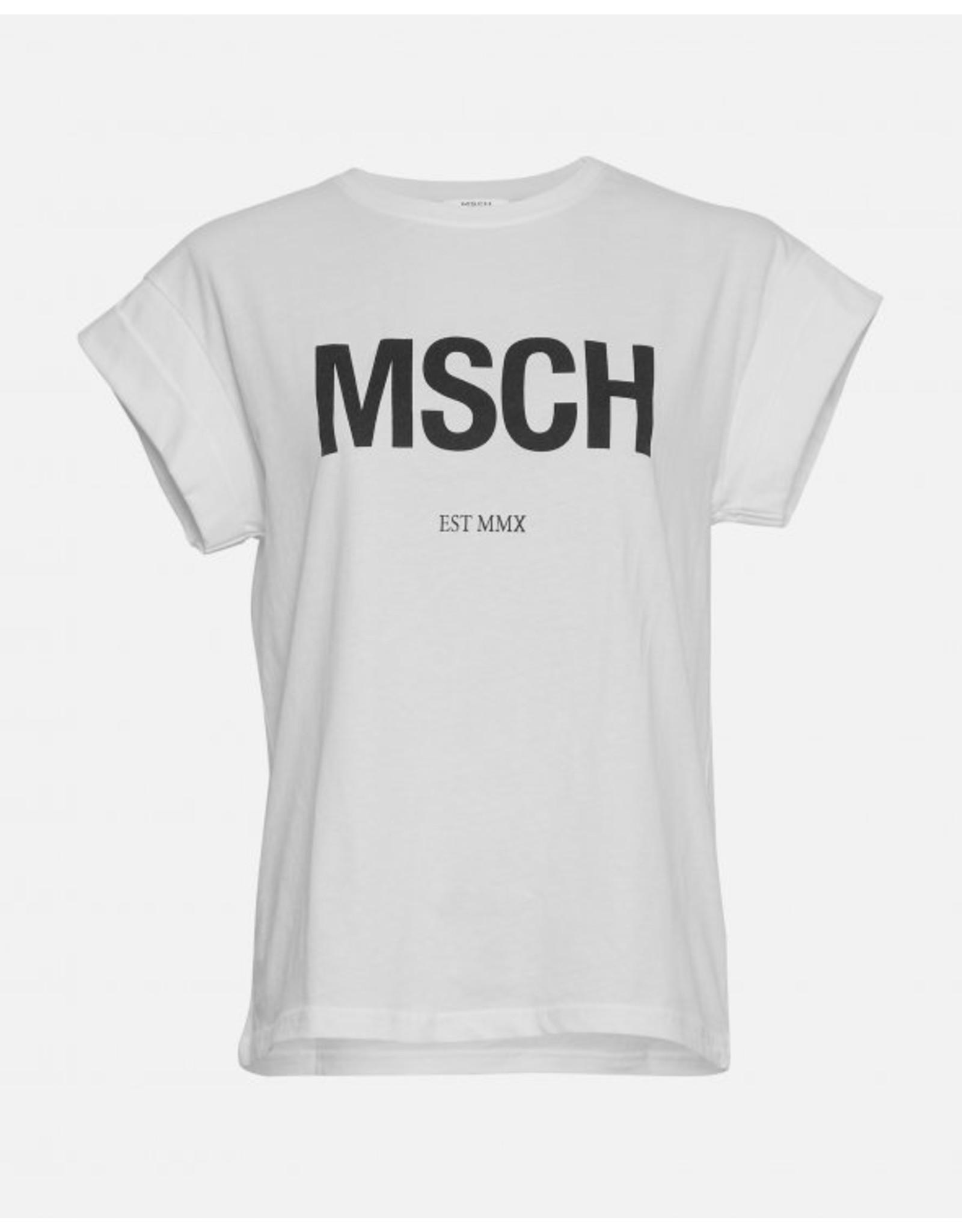 Moss Copenhagen - MSCH T-shirt - MSCH STD - white/black