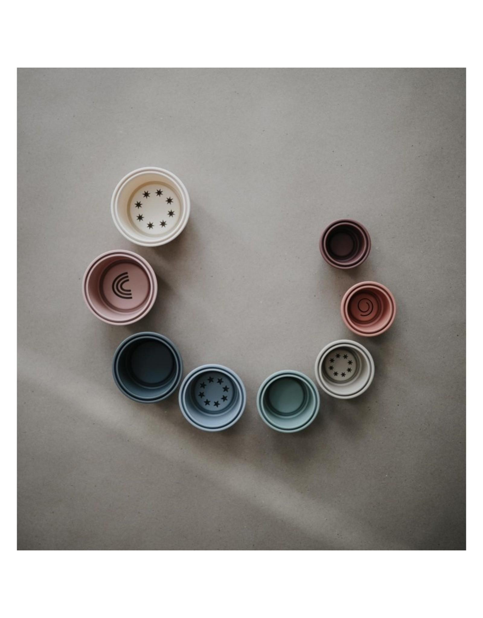 Mushie Stapeltoren - pastel