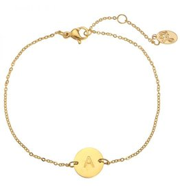 FAVORITES Armbandje initiaal - goud