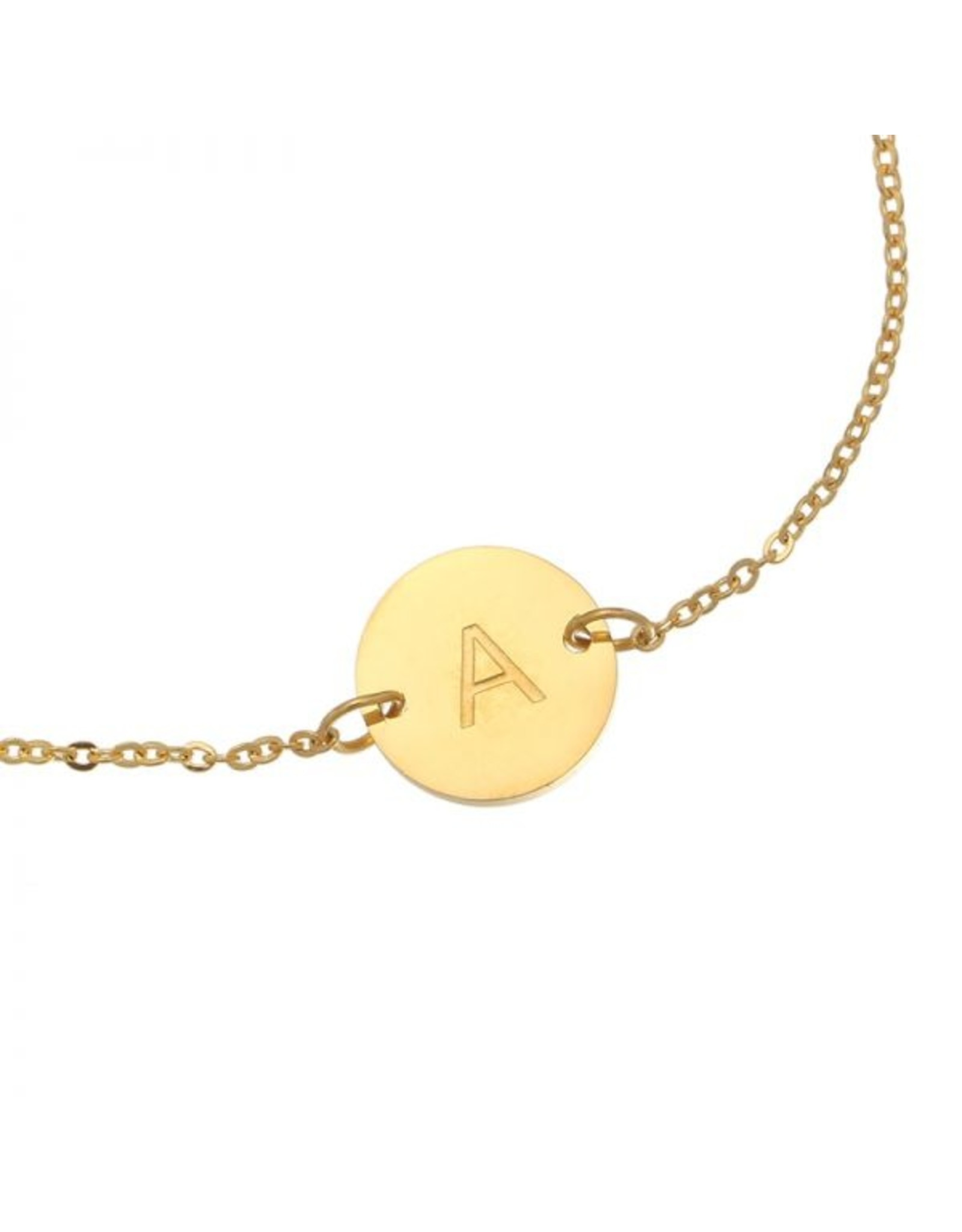 FAVORITES Armbandje initiaal - goud