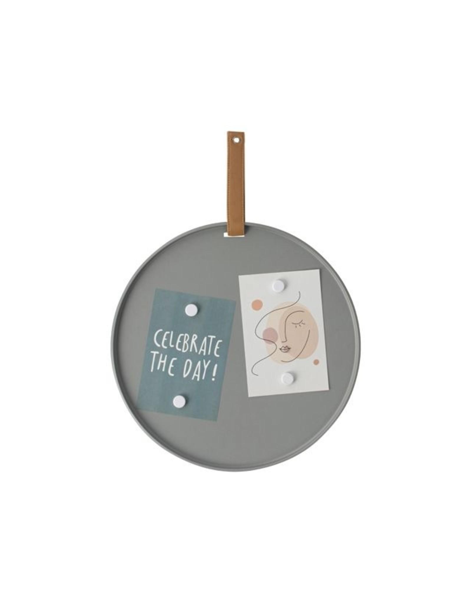 Gusta Metalen memobord - grijs 31cm