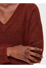 Selected Femme Lulu - Fijn gebreide trui - smoked paprika