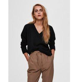 Selected Femme Lulu - Fijn gebreide trui - zwart