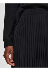 Selected Femme Alexis - Middellange plooirok - zwart