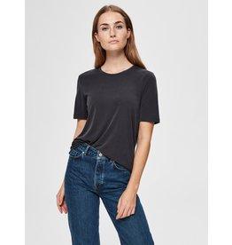 Selected Femme Ella - T-shirt - zwart