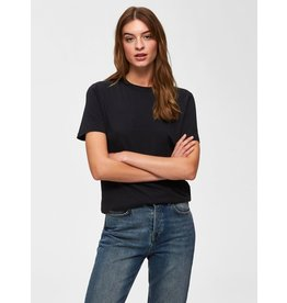 Selected Femme My - T-shirt - zwart