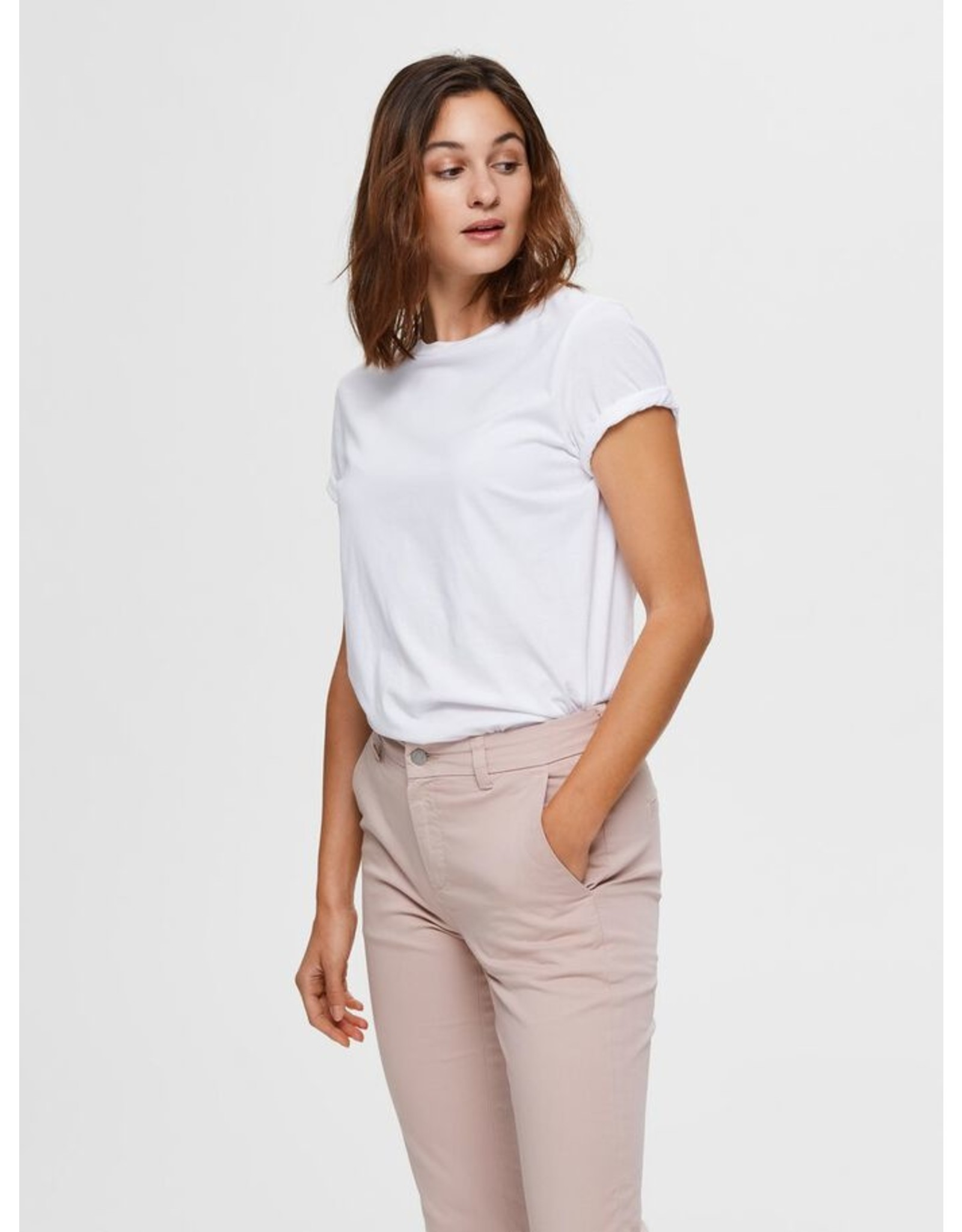 Selected Femme My- T-shirt - wit