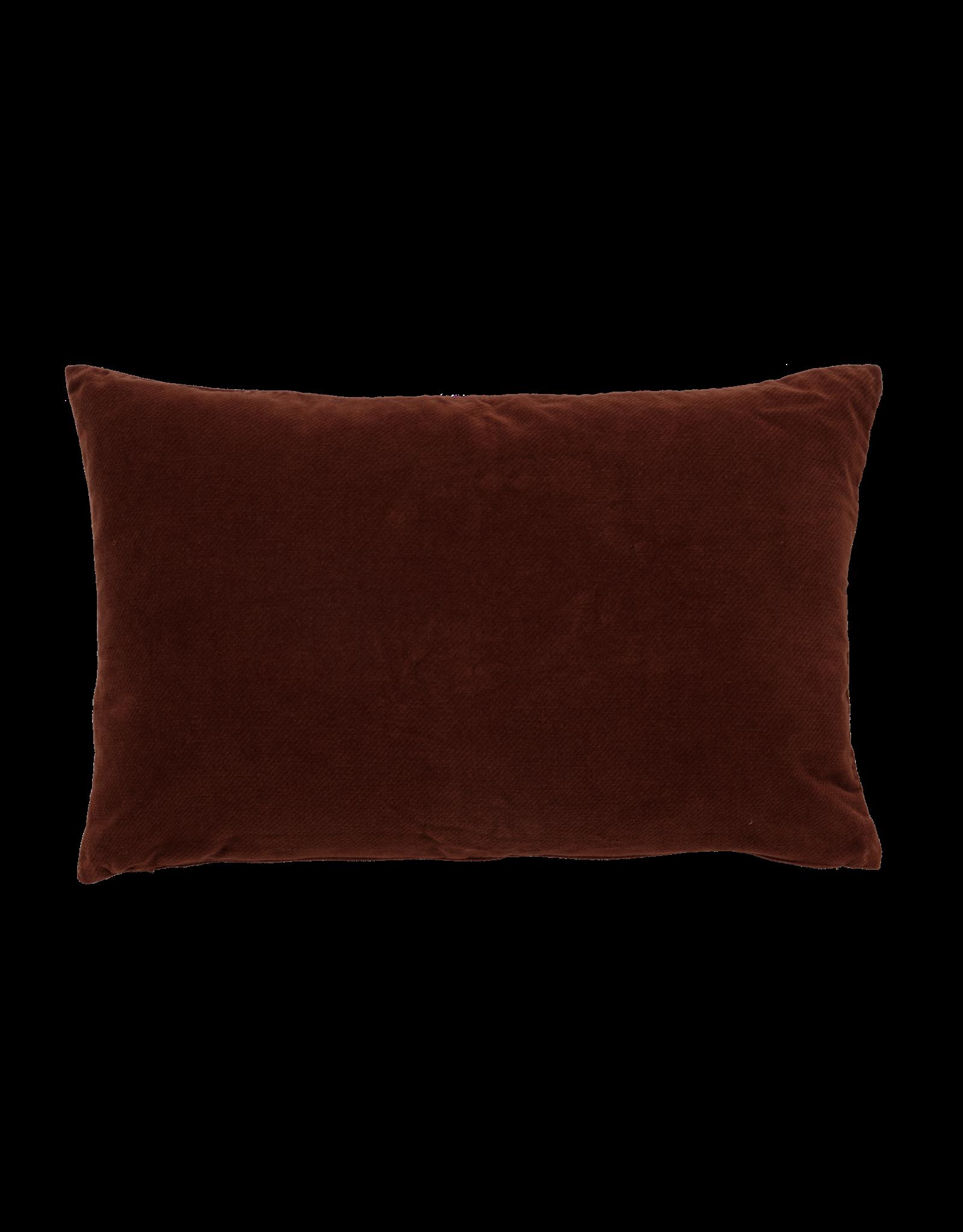 Urban Nature Culture Kussen - Vintage velvet - russet brown