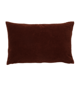 Urban Nature Culture Kussen - Vintage velvet - russet brown
