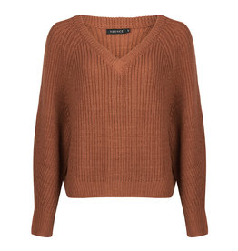 Ydence Sweater knitted - Nathalie - roest